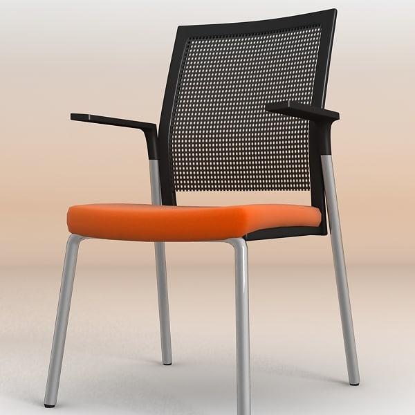 3d meeting office chair model