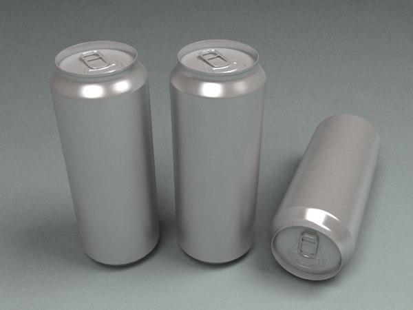 3d model drink pop aluminum