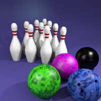 3d 3ds 10-pin bowling pins
