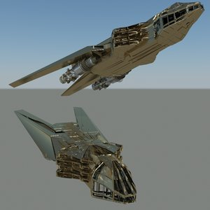 3ds max royal space ship
