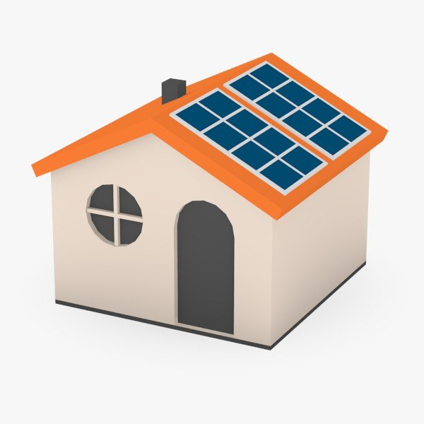 Cartoon Roofing Installation : Ds cartoon house solar panels