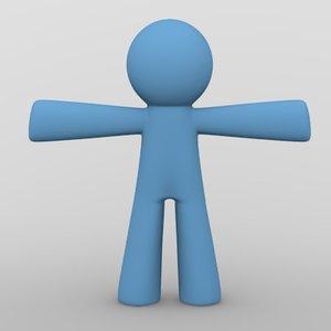 3d x cartoon character