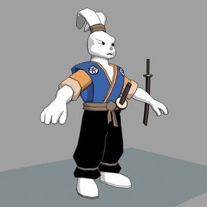 free 3ds mode samurai rabbit