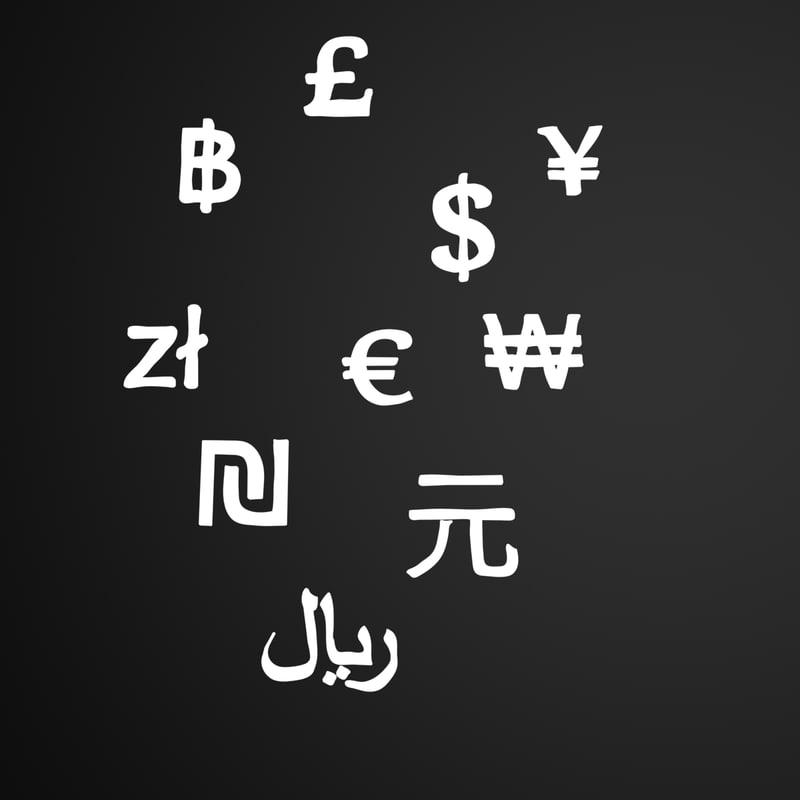 3d currency symbols model