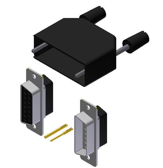 3d model db15 connector kit
