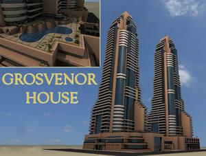 3ds max hotel grosvenor house dubai