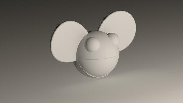 3d model of deadmau5 head mau5