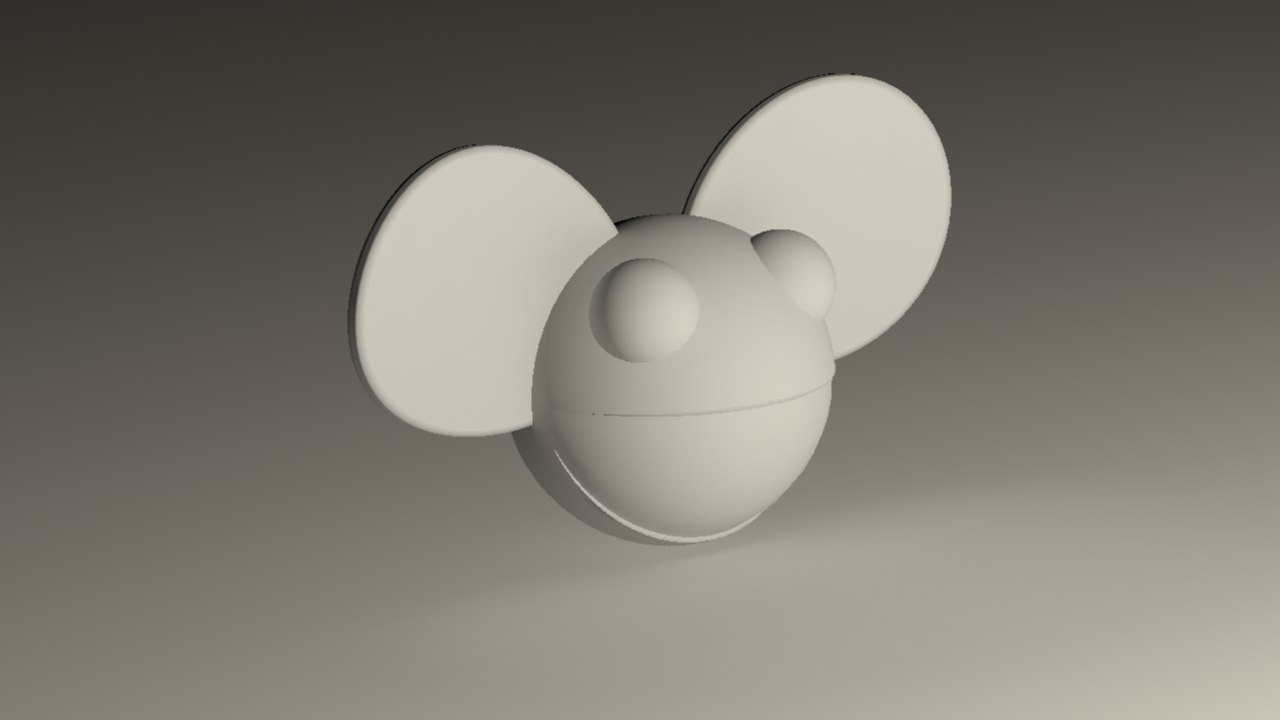 3d model of deadmau5 head mau5