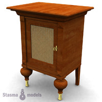 3d bedside night table