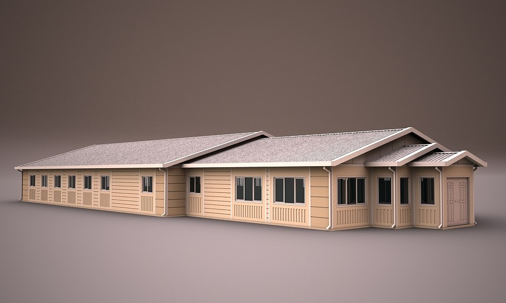 prefabricated building 3d model
