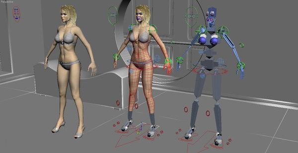 3d model cg female body