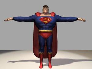 superman superhero 3d model