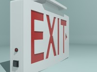 White Exit Sign
