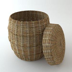 3d model basket materials