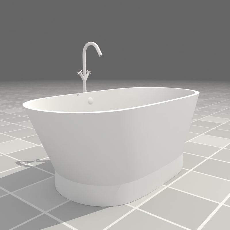 3ds modern bathtub