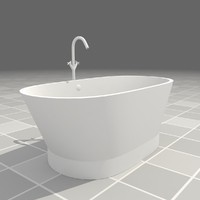 3ds modern bathtub