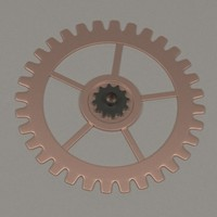 3d 3ds clock gear wheel