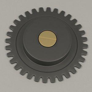 3d clock gear wheel