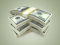 3d render dollar model