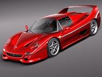ferrari f50 sport 3d model