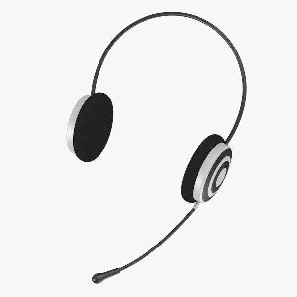 headphones microphone c4d