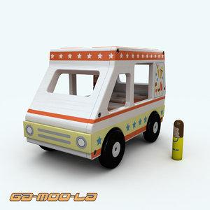 3d model wooden toy ice cream