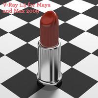3d model lipstick