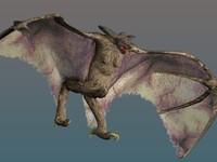giant bat 3d model