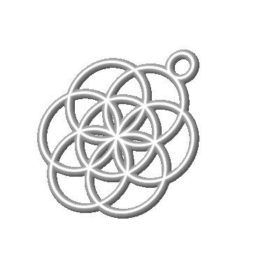 pendant flower life 10mm 3d model