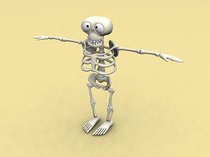 cool cartoon skeleton obj