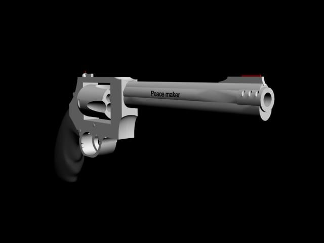 gun peace maker 3d model