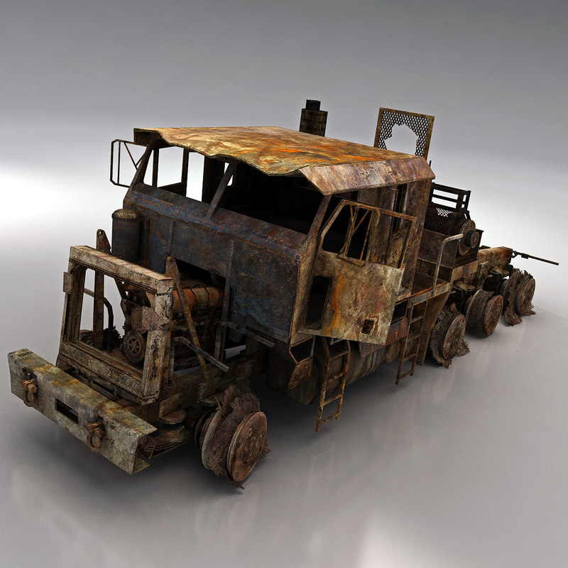Wrecked Car 3d Models For Download Turbosquid