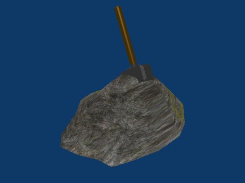 thor hammer rock 3d 3ds