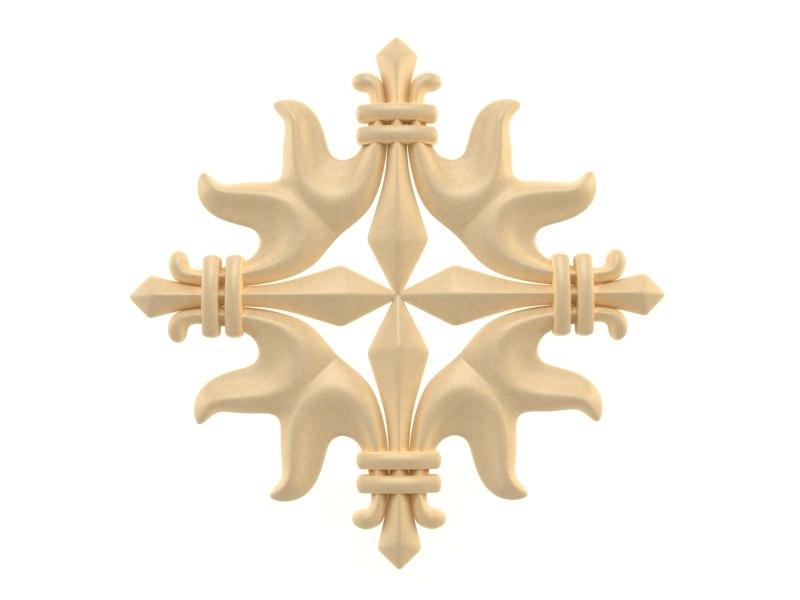 3d model ornamental decor wall