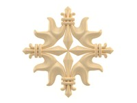 3d model ornamental decor wall