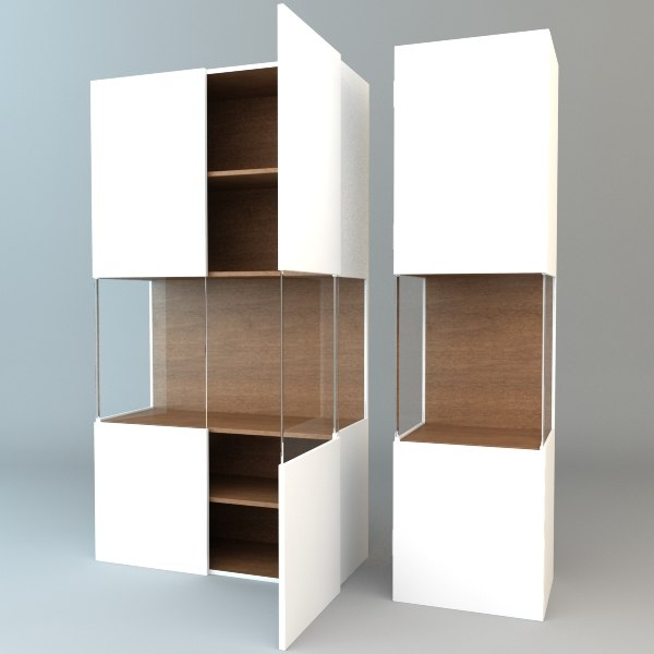 3ds Max Display Cabinets