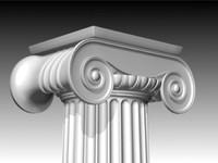 Modelo 3D da coluna Ionic High Poly