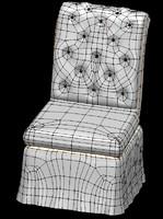 armless chair arm 3d 3ds