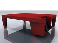 Corner Pocket Coffee Table