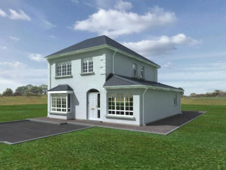 3d detached house