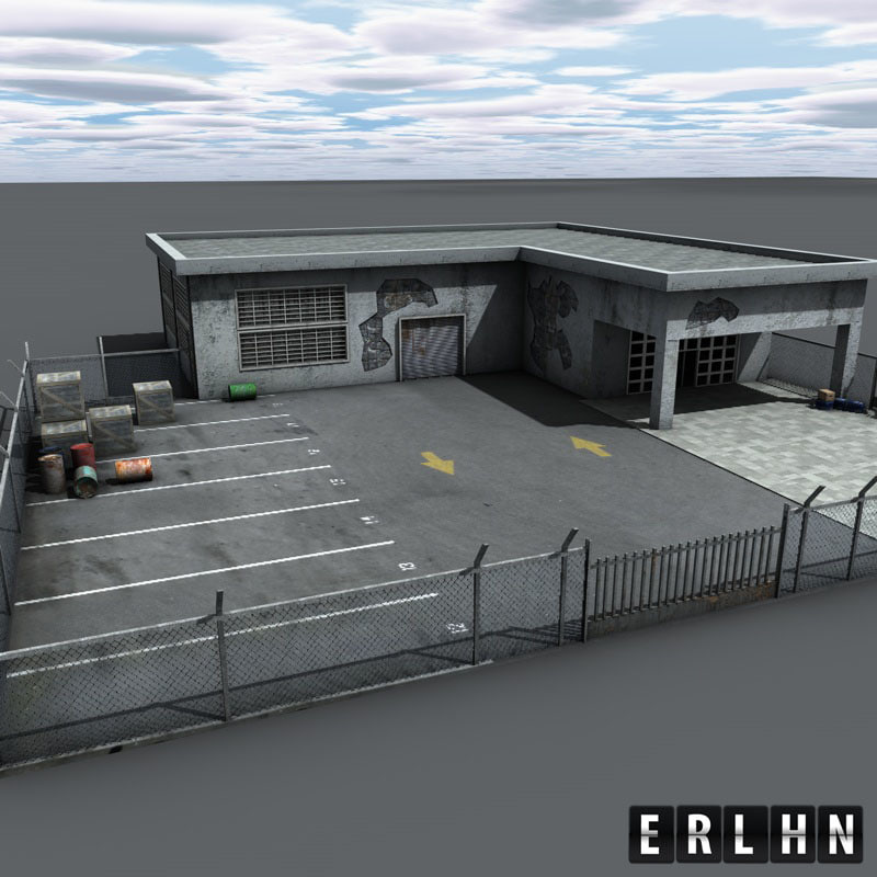 realistic warehouse 3d 3ds