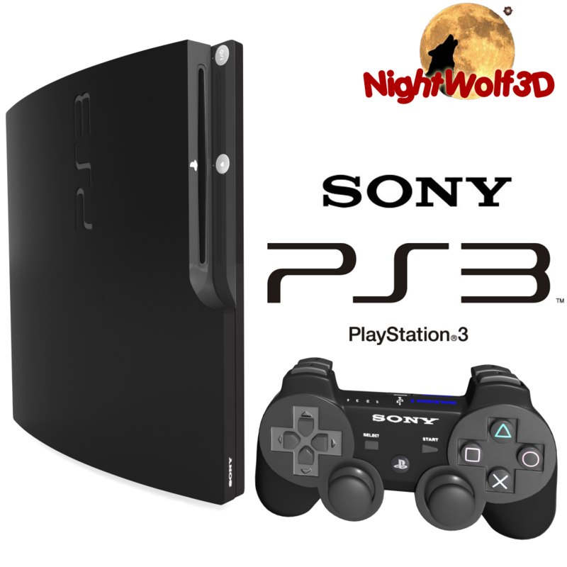 3d model details sony playstation 3