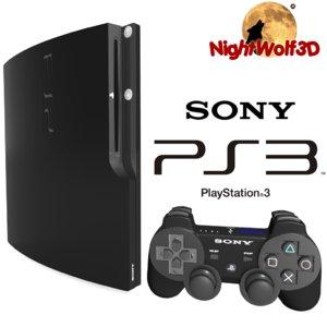 3d model details sony playstation 3