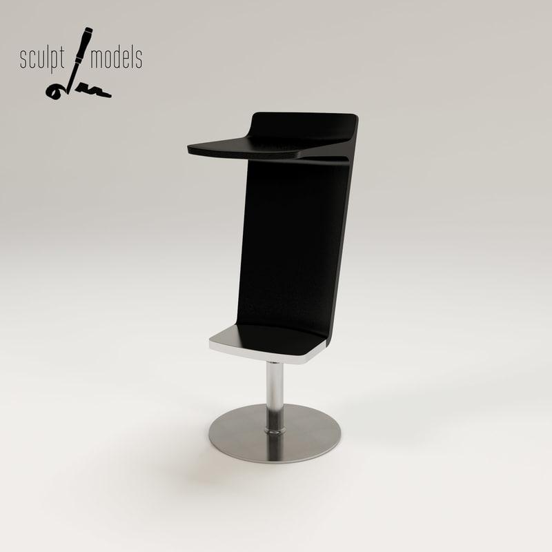 3d level stool model