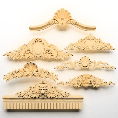 c4d classical decoration ornamental