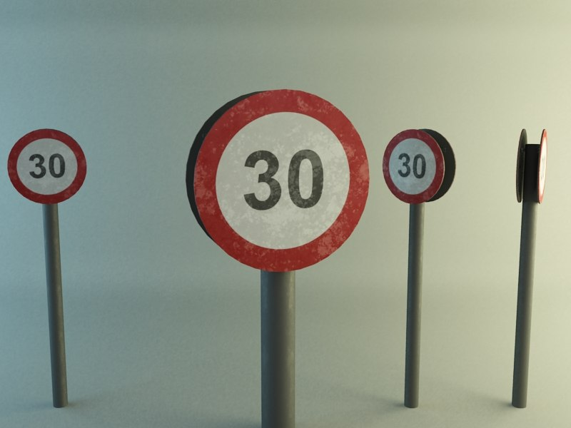 30 speed sign x free