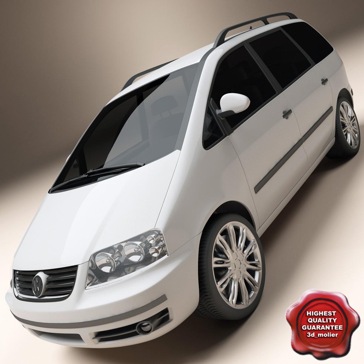 volkswagen sharan 3d model