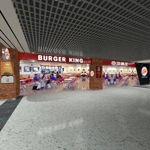 3d model burger king asia