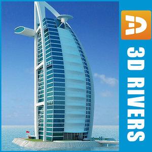3d burj al arab