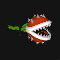 chomping flower 3d model